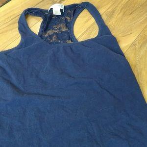 $4 SALE 🌈 Bozzolo Blue Lace Racerback